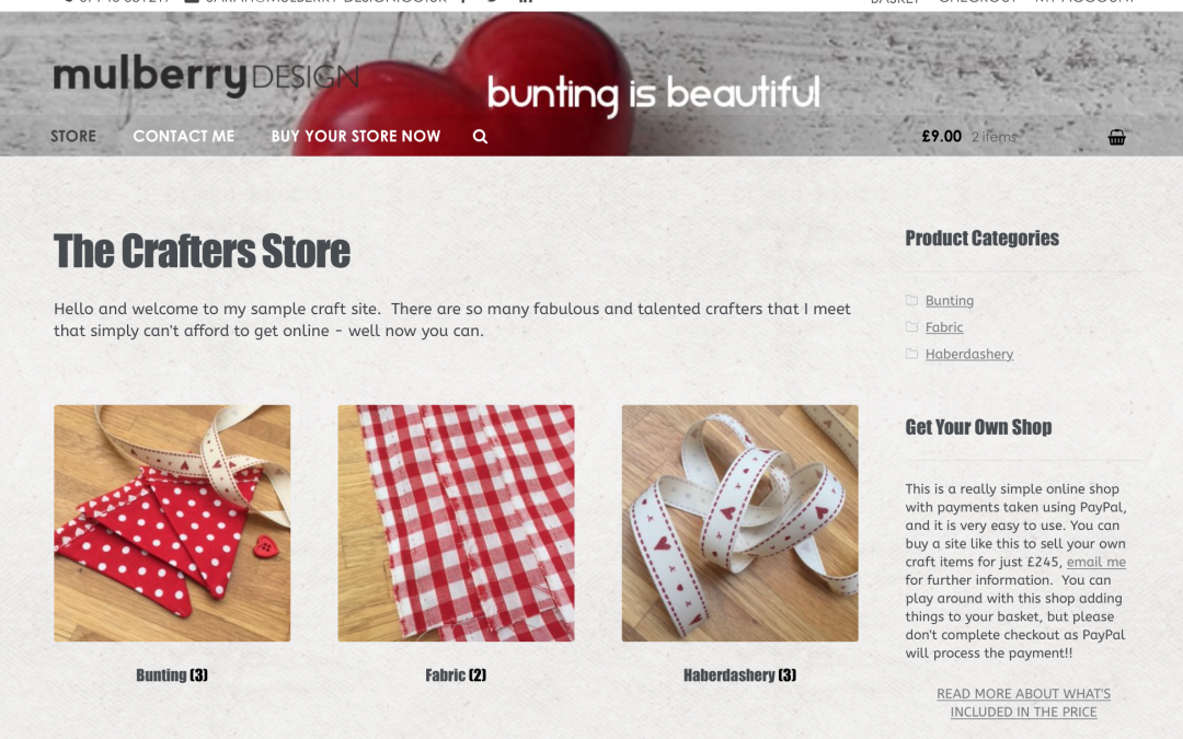 Whoop whoop! Announcing The Crafters Store – affordable E-Commerce for creative folks
